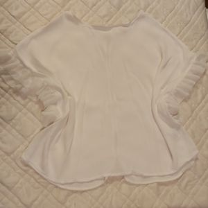 4 for $20 White Lace Sleeves Button Up Back Large